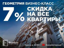 Жилой Комплекс «Геометрия». Сдача уже в этом году Акция: Скидка на все квартиры 7%!